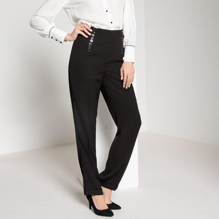 Pantaloni dritti, vita alta, in crêpe  ANNE WEYBURN image 0