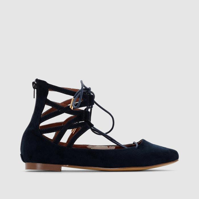 Image Gladiator-Style Straps & Laces Ballet Pumps R studio