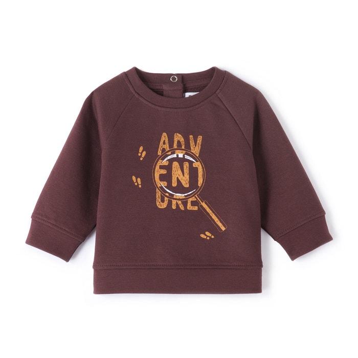 Image 'Adventure' Print Sweatshirt, 1 Month-3 Years La Redoute Collections