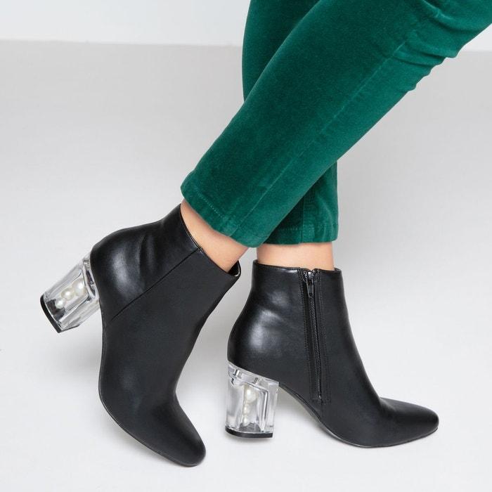 Boots talon fantaisie noir Mademoiselle R