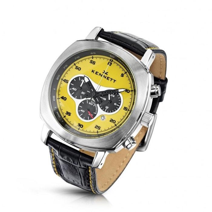 Montre, kennett, challenger jaune chronograph jaune Kennett | La Redoute