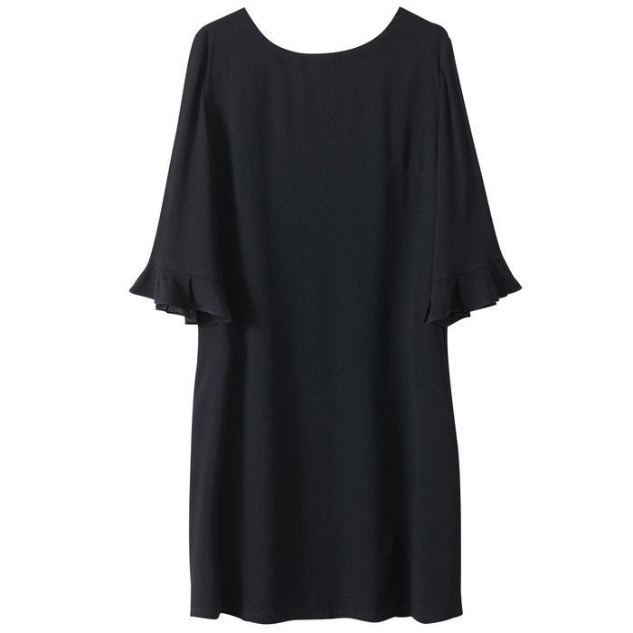 Image Backless Dress with 3/4-Length Sleeves SEE U SOON