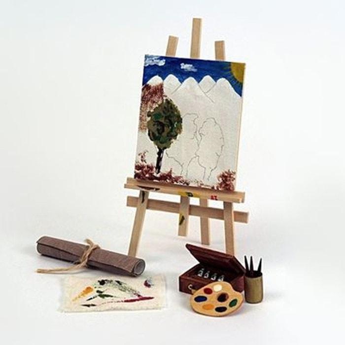 Accessoires pour maison de poupées : Mobilier et accessoires : Chevalet de peinture ARTESANIA BEATRIZ