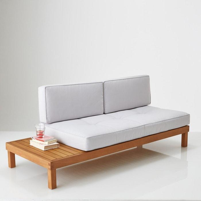 banquette lit de jardin eucalyptus chann gris la redoute interieurs la redoute. Black Bedroom Furniture Sets. Home Design Ideas