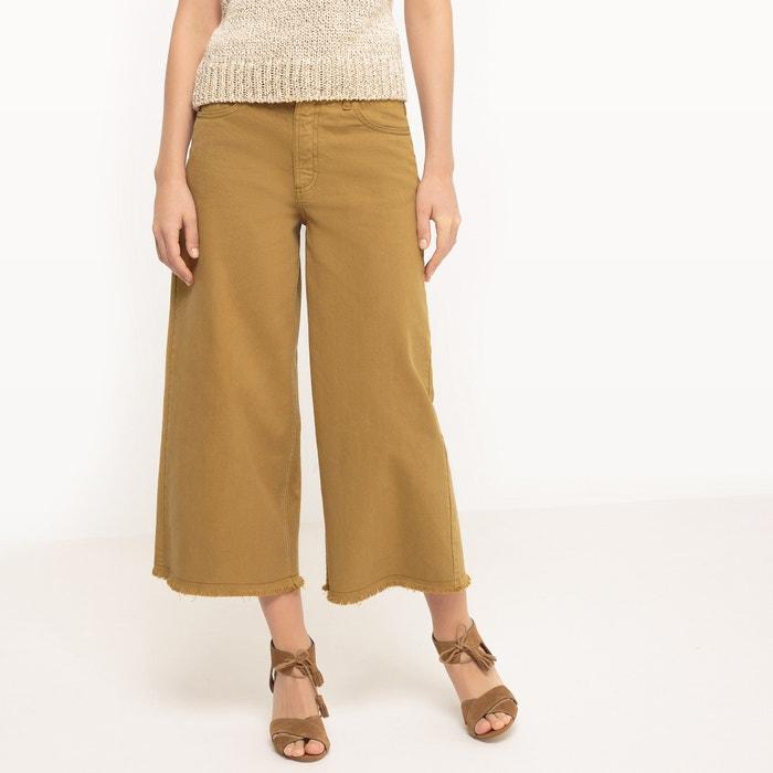 Frange La Con LarghiFondo Redoute Kaki Collections Pantaloni WDI9EH2Y