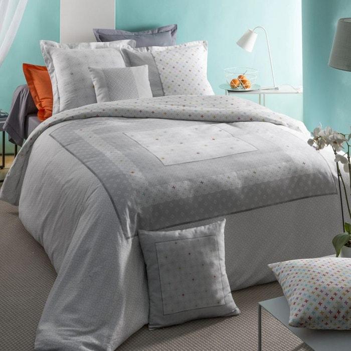parure housse couette aster gris tradition des vosges la redoute. Black Bedroom Furniture Sets. Home Design Ideas