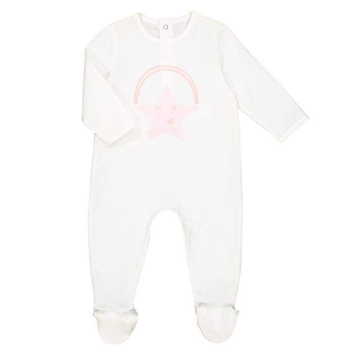 Pijama de punto con pies para niña, 0 meses - 3 años  La Redoute Collections image 0