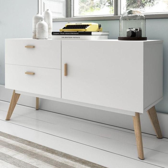 buffet design 120 compas blanc zendart la redoute. Black Bedroom Furniture Sets. Home Design Ideas