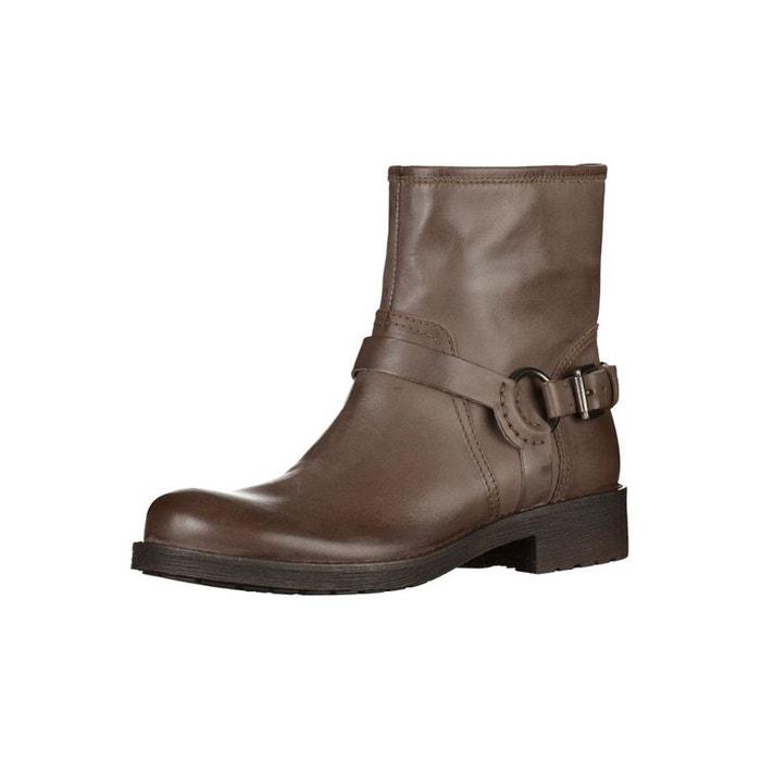 Boots dessus cuir avec bride d new virna  gris Geox  La Redoute