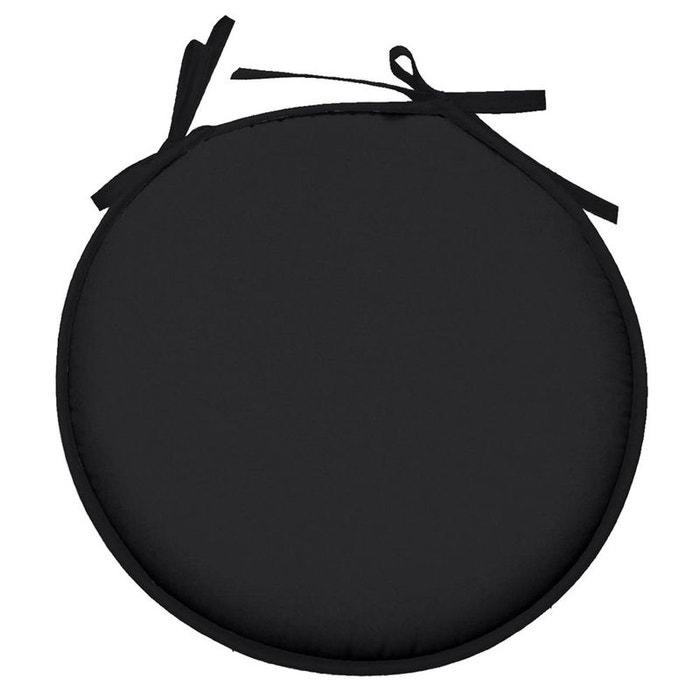 Galette De Chaise Noir Ronde En Polyester Storex