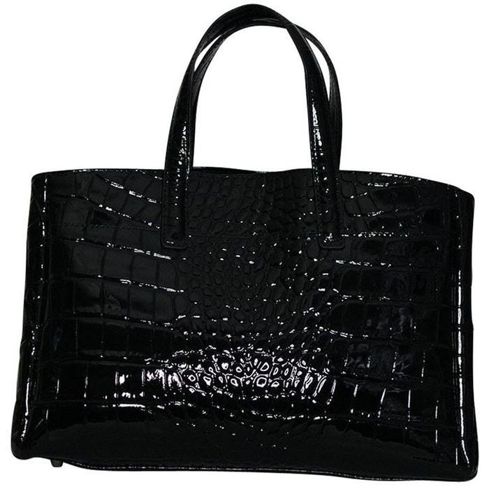 sac a main cuir vernis noir noir chapeau tendance la redoute. Black Bedroom Furniture Sets. Home Design Ideas