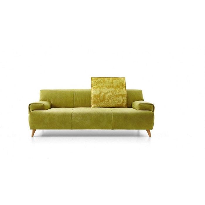Canapé Woodydunord Design Scandinave En Cuir Vintage Vert Pistache - Canapé danois
