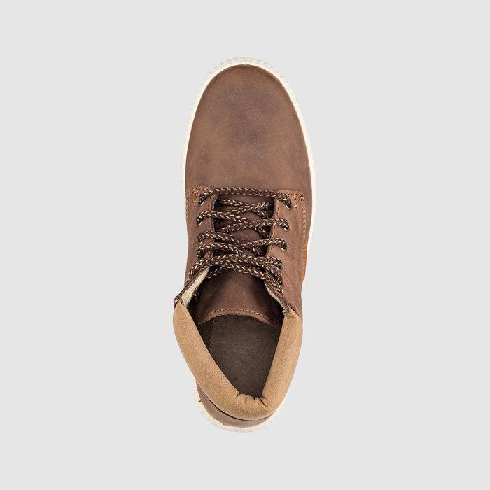 Baskets montantes bota piel cuelo marron Victoria