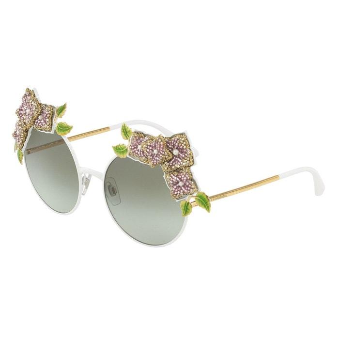 Lunettes de soleil dg2186 blanc Dolce Gabbana   La Redoute c3620cf36cf8