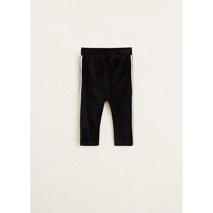 Pantalon jogging velours côtelé noir Mango Baby  3fc5a856015