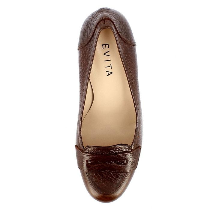 Escarpins femme marron Evita