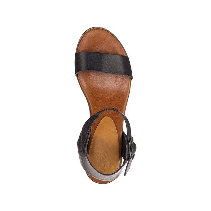 Sandales cuir à talons volou Kickers