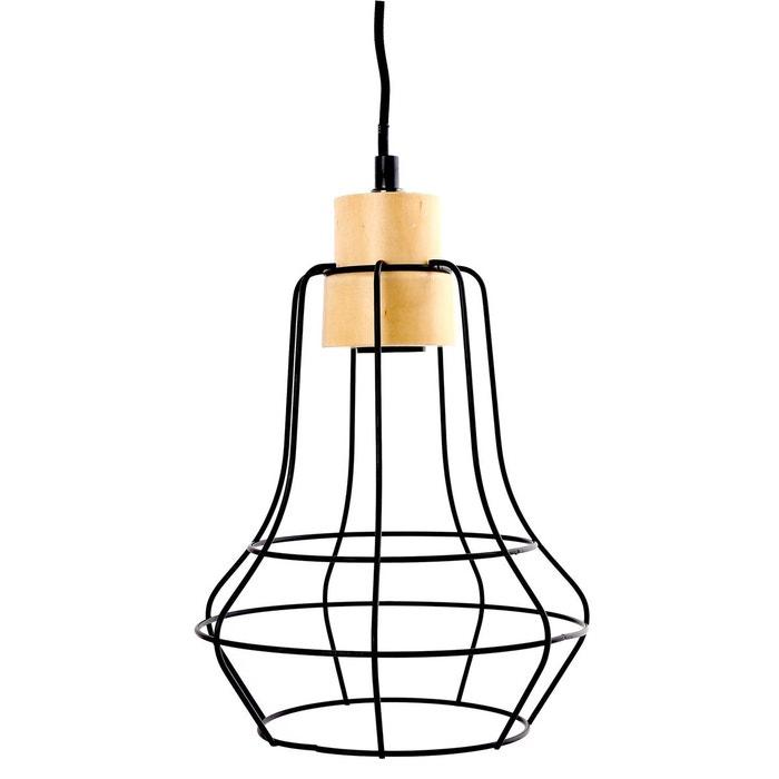 Métal Lampe Suspension En H30cm Forme Noir Poire 3F1cKTlJ