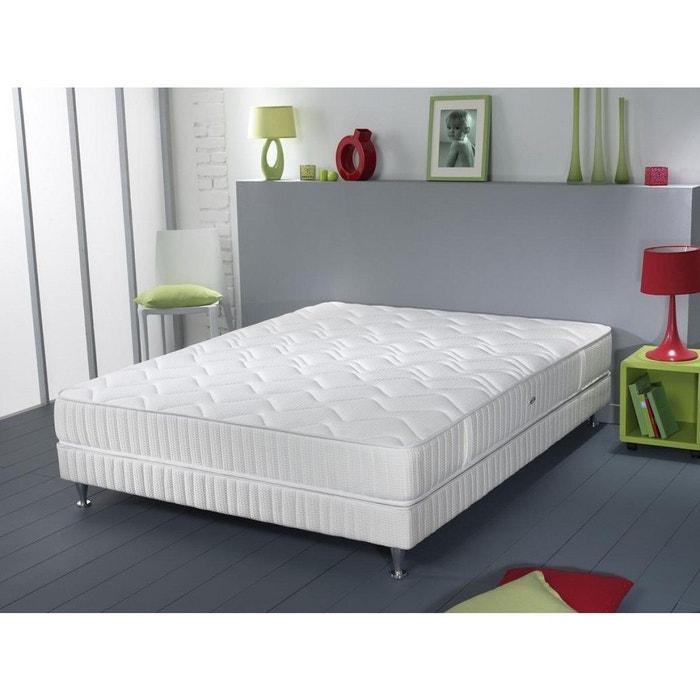 ensemble simmons atlas couchage latex sommier pieds blanc. Black Bedroom Furniture Sets. Home Design Ideas
