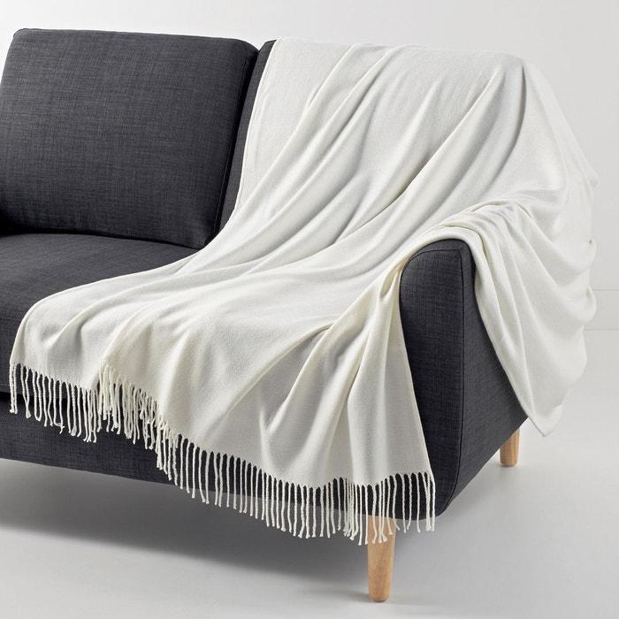 plaid sola ecru la redoute interieurs la redoute. Black Bedroom Furniture Sets. Home Design Ideas