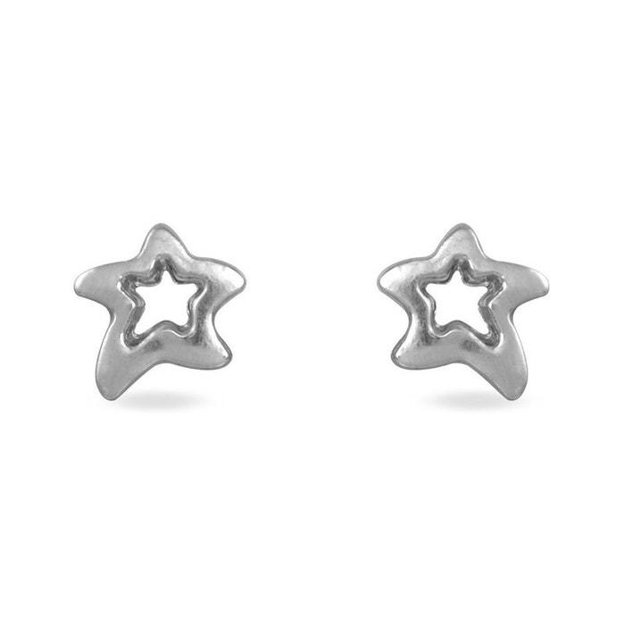 Boucles d'oreilles or blanc Histoire D'or | La Redoute Faux Rabais NWgiB94ah