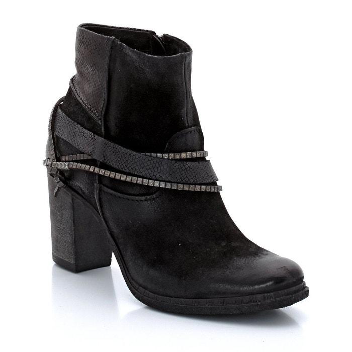 Boots à talons urlo cuir de chèvre   noir Mjus   La Redoute
