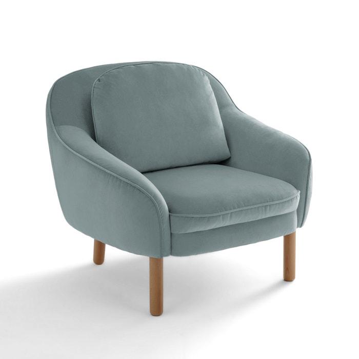 fauteuil velours charley la redoute interieurs  la redoute