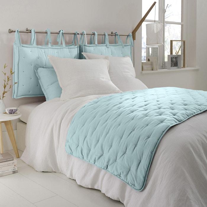 chemin de lit brod aeri bleu c ladon la redoute. Black Bedroom Furniture Sets. Home Design Ideas