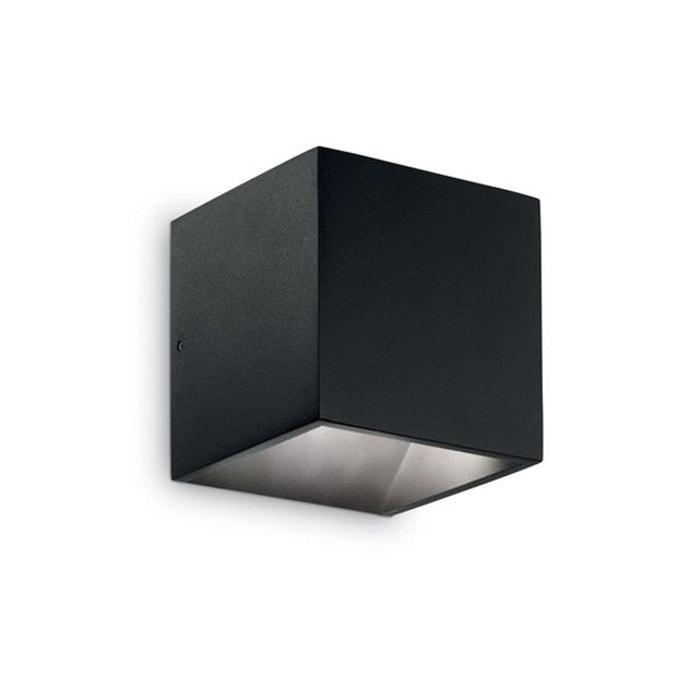 Applique Extérieure Ideal Noir Murale Rubik 1x6w Lux tQhxBrCsd