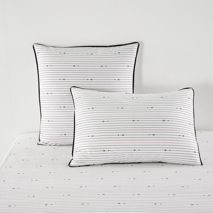 Image Taie d'oreiller, percale de coton, Si je t'aime… La Redoute Interieurs
