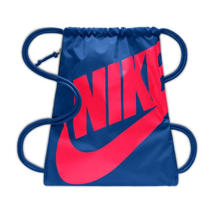 5bd36284b8 Sac à dos cordon heritage gym sack Nike bleu/rouge | La Redoute