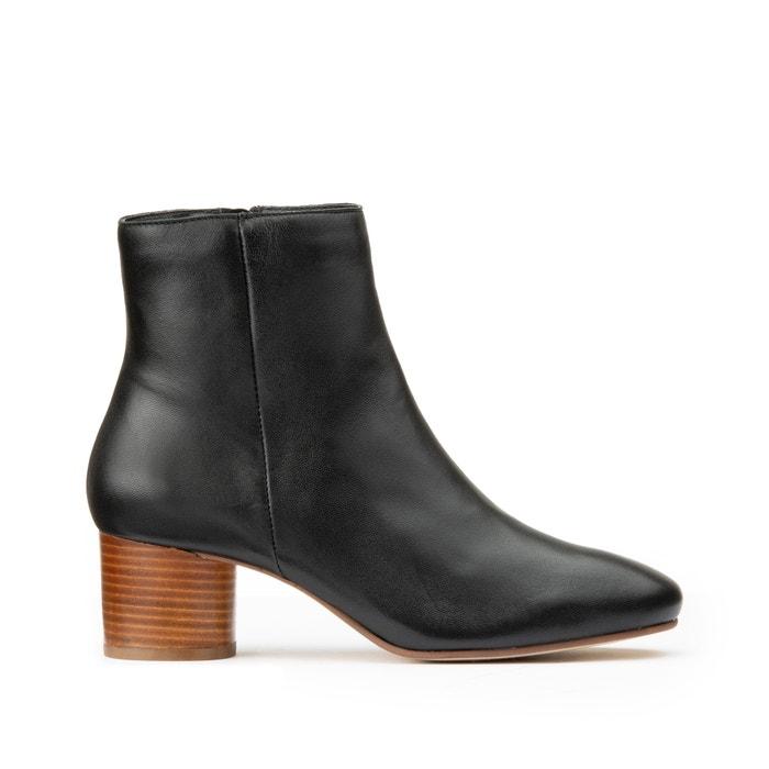 Boots met rits in leer  LA REDOUTE COLLECTIONS image 0