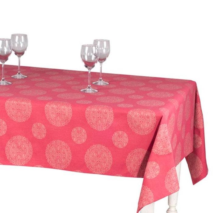 nappe rectangulaire coton telma rose vif rose vif madura. Black Bedroom Furniture Sets. Home Design Ideas