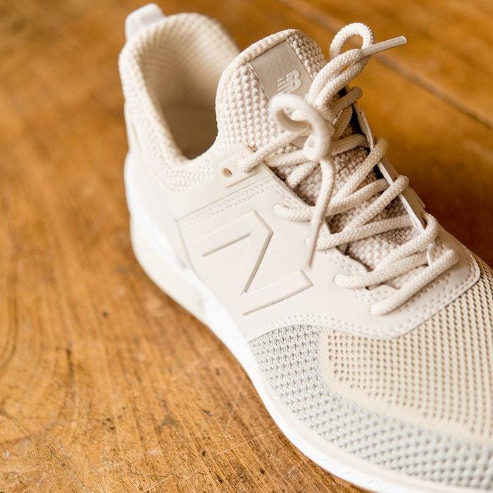 Baskets synthétique modèle 574 blanc cassé New Balance