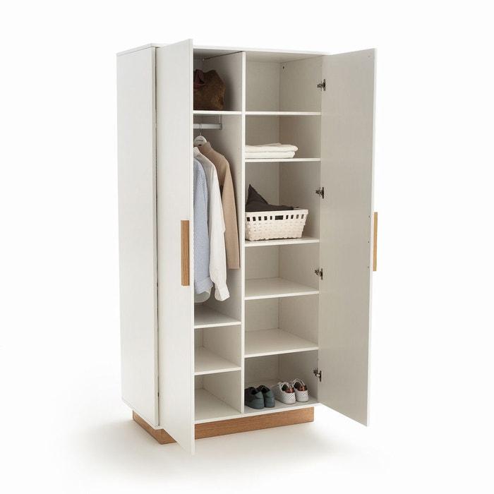 Armoire 2 portes fabi blanc La Redoute Interieurs | La Redoute