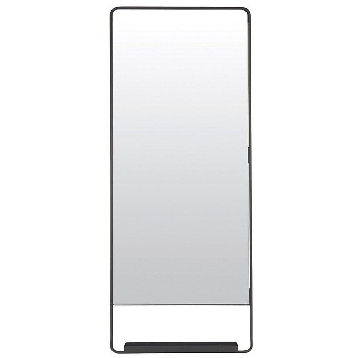 Miroir noir 110x45 element style industriel m tal peint for Miroir noir industriel