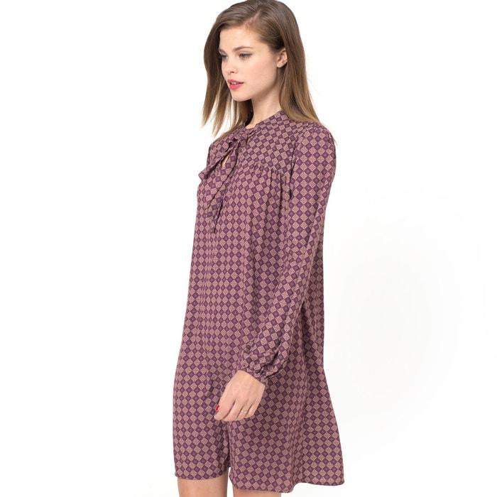afbeelding Bedrukte jurk met lavallière MADEMOISELLE R