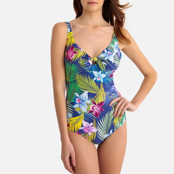 2b52e988ee Maillot de bain imprimé floral, effet ventre plat Anne Weyburn bleu imprimé  | La Redoute