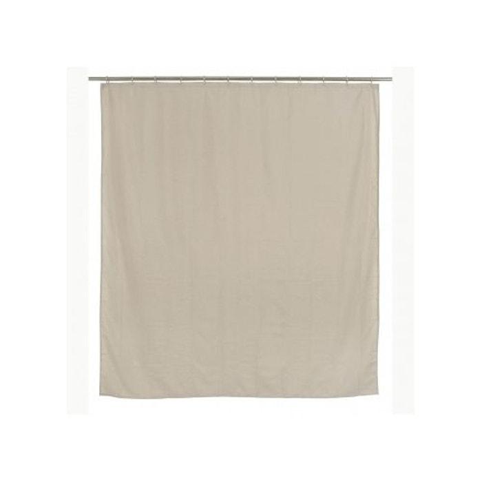rideau de douche beige tissu canvas 180 200cm v019839. Black Bedroom Furniture Sets. Home Design Ideas