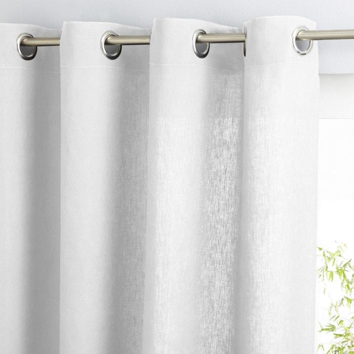 cortina de lino lavado con ojales private am pm la redoute. Black Bedroom Furniture Sets. Home Design Ideas
