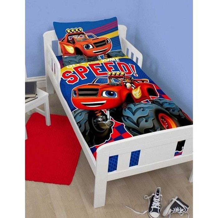 parure de lit b b blaze speed multicolore blaze la redoute. Black Bedroom Furniture Sets. Home Design Ideas
