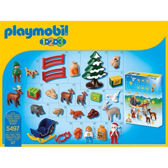 Playmobil Christmas - Calendrier de l'Avent: 1.2.3 Père Noël et animaux - PLA5497