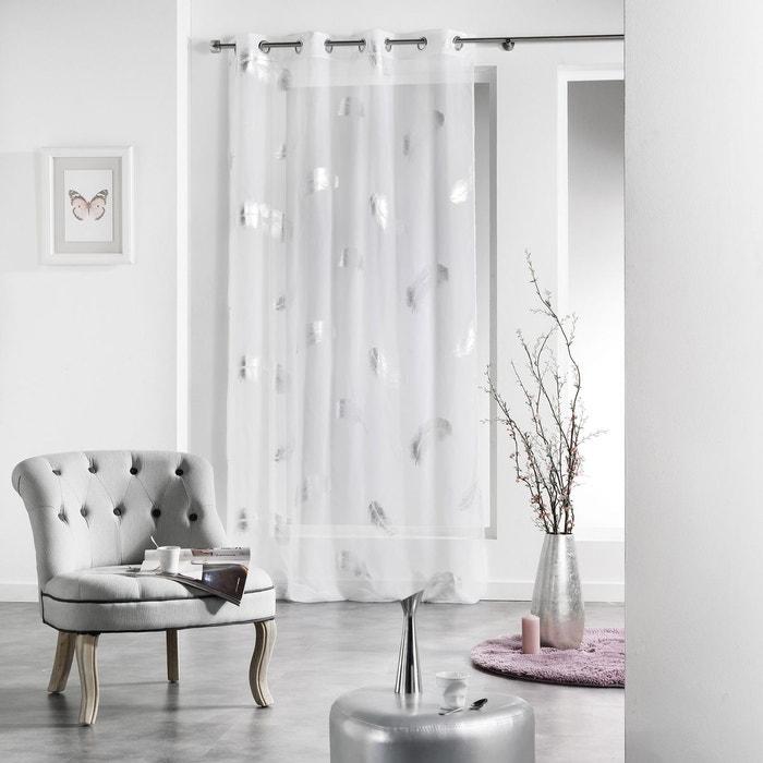 voilage oeillets inox 140x240 plumette douceur d interieur la redoute. Black Bedroom Furniture Sets. Home Design Ideas