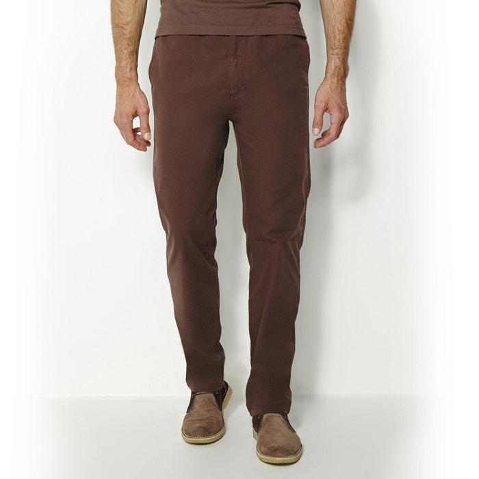 Image Pantalon élastiqué en toile pur coton CASTALUNA FOR MEN