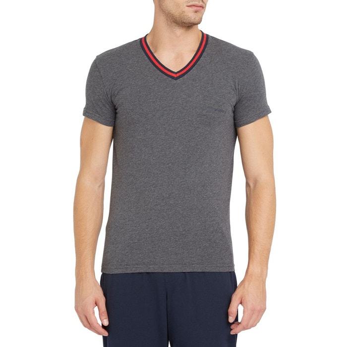2af8e19c35de Tshirt col v logo armani gris pour homme gris Emporio Armani   La Redoute