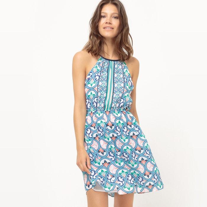 Image Geometric Print Shoestring Strap Dress MOLLY BRACKEN