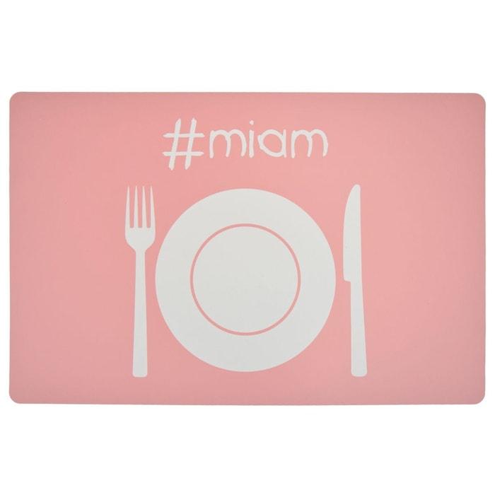 Set de table colorama miam rose p le rose p le for Set de table rose