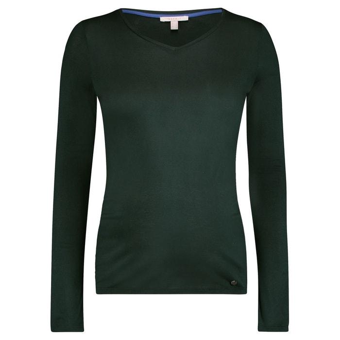T-shirt manches longues de grossesse vert