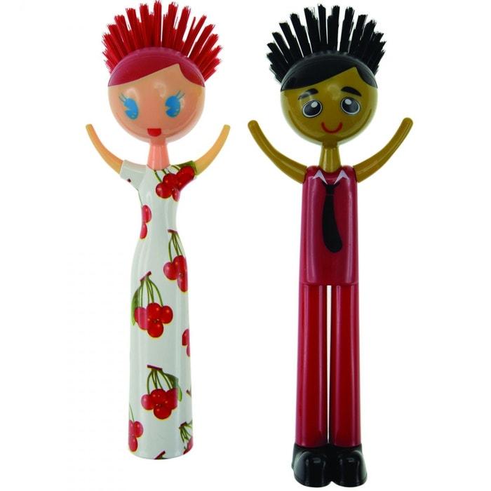 Brosse vaisselle couple bill hillary rouge blanc couleur unique inc - La redoute vaisselle ...