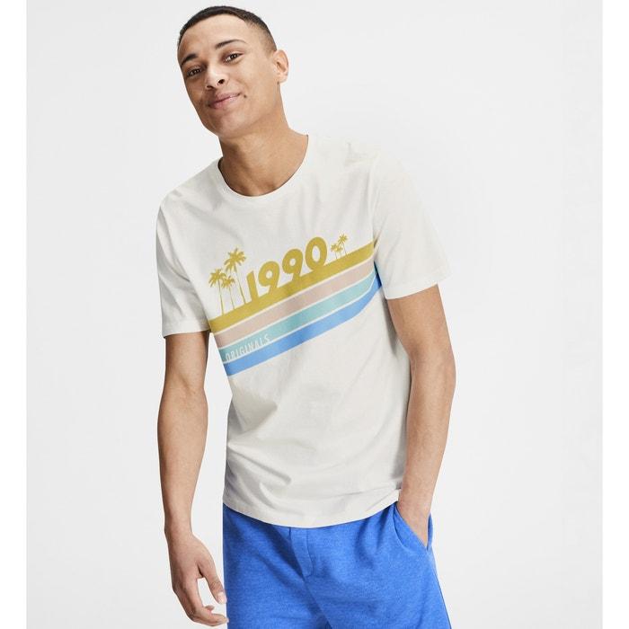 T-shirt scollo rotondo motivo davanti  JACK & JONES image 0